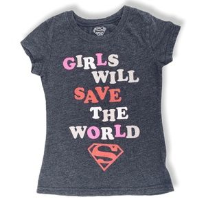 Superman Girl Gray Heather Tee
